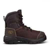 Oliver 150mm Brown Lace Up Boot Waterproof and Caustic Resistant (65-490)