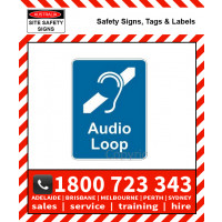 AUDIO LOOP 150x225mm Self Stick Vinyl