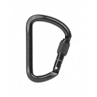 AXIS 53kN Steel Wide D Screwgate Black Carabiner (AXS501SBLK)