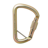 AXIS 53kN Wide D Screwgate Carabiner w/pin (AXS501SW/PINGLD)