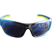 Bandit III Maverick Fashion Safety Glasses Eye Protection Specs Black-Blue Frame, Blue Lens- FREE