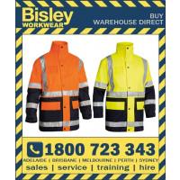 Bisley 5-In-1 Hi Vis Safety Rain Jacket (BK6975)