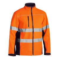 6XL Bisley Orange/Navy Soft Shell Jacket with 3M Reflective Tape (BJ6059T)