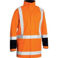 Bisley TTMC-W Taped Hi Vis Rain Shell Jacket Orange