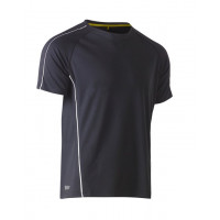 Bisley Cool Mesh Tee Charcoal with reflective piping
