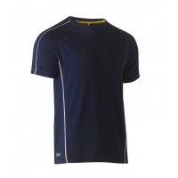 Bisley Cool Mesh Tee Navy with reflective piping