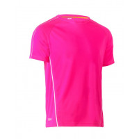 Bisley Cool Mesh Tee Pink with reflective piping