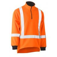 Bisley TTMC-W Taped Hi Vis Fleece Pullover Orange