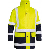 Yellow/Navy Bisley 5 in 1 Rain Jacket (BK6975)