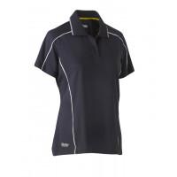 Bisley Womens Cool Mesh Polo Shirt Charcoal