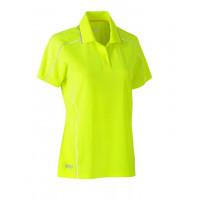 Bisley Womens Cool Mesh Polo Shirt Hi Vis Yellow