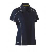 Bisley Womens Cool Mesh Polo Shirt Navy