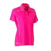 Bisley Womens Cool Mesh Polo Shirt Pink
