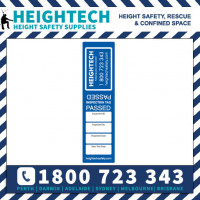 (20pk) BLUE Height Safety Fall Protection Inspection Test Tag