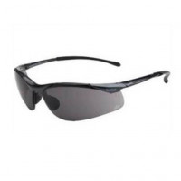 Bolle Safety Glasses CONTOUR Dark Gun Frame PLATINUM SMOKE Lens (1615502)