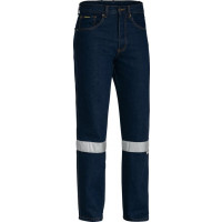 Bisley 3M Taped Rough Rider Denim Jeans Blue