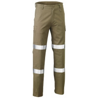 Bisley 3M Biomotion Double Taped Cool Lightweight Utility Pant Khaki