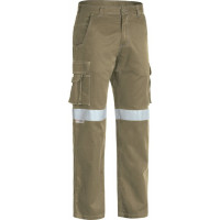 Bisley 3M Taped Cool Vented Lightweight Cargo Pant Khaki