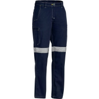 Bisley Womens 3M Taped Cool Vented Lightweight Pant Navy