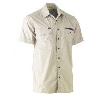 Bisley Flex & Move Utility Work Short Sleeve Shirt Stone (BS1144-BSTN) L