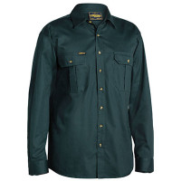 Small Bottle Bisley Mens Cotton Drill Shirt Long Sleeve (BS6433_BGRGS)