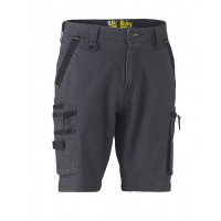 Bisley Flex & Move Stretch Utility Zip Cargo Short Charcoal