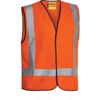 Bisley X Taped Hi Vis Vest Orange