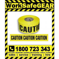 Caution Barrier Tape Yellow/Black 1000ft (304m)