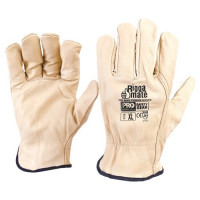 ProChoice Leather Glove RIGGAMATE Cow Grain, BEIGE (CGL41B)