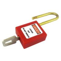 38mm shackle Red Safety Padlock inc 2 keys