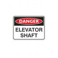 DANGER ELEVATOR SHAFT 450x600mm Flute
