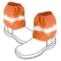 Orange Hi Vis Cotton Boot Covers with R/Tape