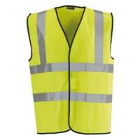 X-Large Safety Vest Waist Coat Hi Viz with 3M Reflective Tape