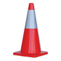 ProChoice Orange Traffic Cone with Reflective Strip 700mm (TC700R)