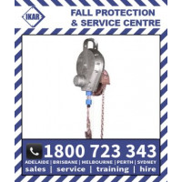 18m IKAR Fall Arrest Block Rescue Recovery system with chain Rated 136kg/300lbs