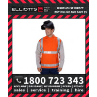 Elliotts FR Cotton Orange Proban Day/Night REFLECTIVE HI VIS WELDING JACKET LEATHER SLEEVES 3XL-4XL (OPWJ30CSHT1L)