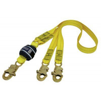 Force2 Shock Absorbing Lanyards Webbing Double Tail 2.0m overall length