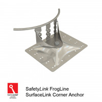 FrogLine SurfaceLink Corner Anchor - Stainless Steel Plate (STAT.FROGSUR003)
