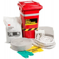 3M General Purpose Sorbent Spill Kit Wheelie Bin - 130L (MSRK-130)