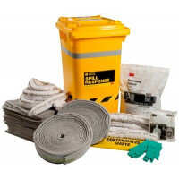 3M General Purpose Sorbent Spill Kit Wheelie Bin - 210L (MSRK-210)