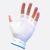 TGC (10 Pairs) Glovlet Cotton-Blend Fingerless Reusable Gloves L
