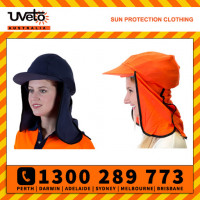 Uveto 100% Cotton Gobi Over Hat Helmet Add-on Sun Protection