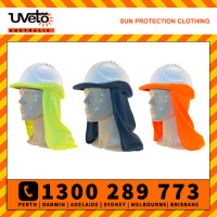 Uveto Micro Mesh Hard Hat Flap Safety Helmet Attachment