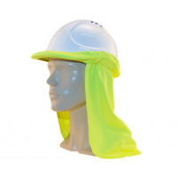 Uveto HI VIS YELLOW Micro Mesh Hard Hat Flap Safety Helmet Attachment