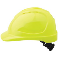 FLURO YELLOW V9 Hard Hat - VENTED with Ratchet Harness