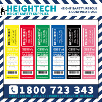 Height Safety Fall Protection Inspection Test Tag