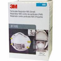 3M N95/ P2 Cupped Particulate Respirator - Small (8110S) Pk-20