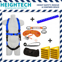 Roofer's Kit with Harness, 15kN Roof Anchor, Roof Handles and 25m Ropeline