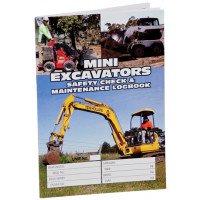 Mini Excavators Logbook - A5 Size (LB109)