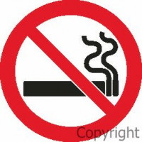 NO SMOKING Self Stick Vinyl